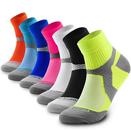 (CHARMKING Compression Socks for Women & Men 15-20 mmHg is Best Graduated Athletic & Medical, Running, Flight, Travel, Nurses, Pregnant - Boost Performance, Blood Circulation & Recovery (Multi 02, S/M))
