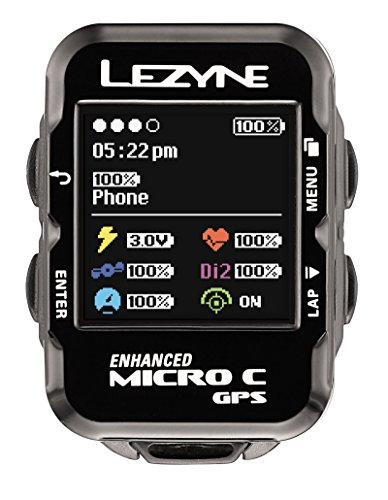 Lezyne Micro Color GPS, Black, One Size by Lezyne