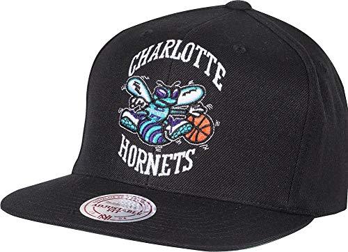Charlotte Cap - Mitchell & Ness Charlotte Hornets HWC INTL405 Wool Solid Snapback Cap Kappe Basecap Black