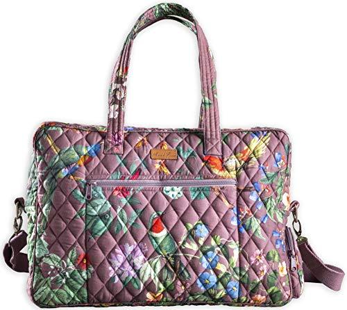 - Maison d' Hermine Eden Cotton Travel Duffel Bag (Eden - Violet)
