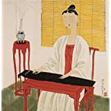 Canvas Prints Of Oil Painting ' Hu Yongkai,Woman Playing The Zither,21th Century' 30 x 31 inch / 76 x 78 cm , High Quality Polyster Canvas Is For Gifts And Foyer, Home Theater And Nursery Decoration