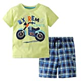 Kids Boys 2 Piece Summer Short Sleeve T-Shirt Tops + Pants Outfits Set (as Photo/Style#1, 7T) …