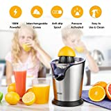 Aicok Citrus Juicer Electric 100W Stainless Steel Citrus Juicer Squeezer with Anti-drip, Ultra Quiet Motor For Fresh Orange Lemon