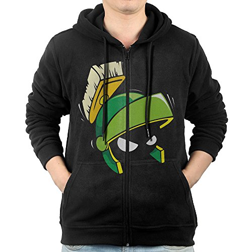 [SFG Mens Marvin Hip Hop Funny Hoodie Sweatshirt Leisure Style S Black] (Marvin The Martian Costume Shoes)