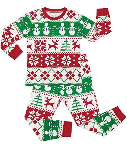 Sociala Kids Pajamas for Boys Girls 100% Cotton Christmas Pjs Sleepwear 2-7
