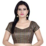 Chandrakala Women's Designer Bollywood Readymade Multi Saree Blouse Padded Brocade Choli (B106MUL3)