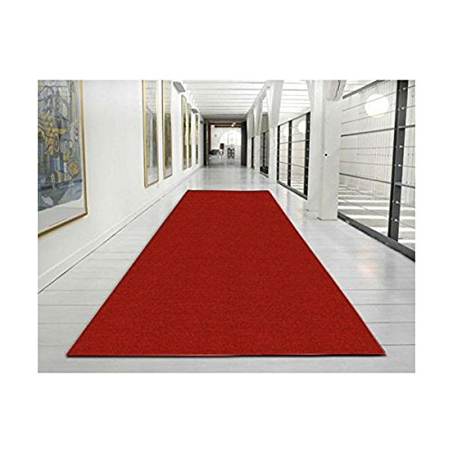 "Ottomanson Ottohome Collection Solid Design Runner, 20"" x 59"", Red"