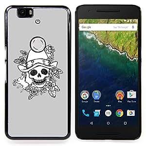 Stuss Case / Funda Carcasa protectora - Mal emotivo Oscuro Roca Gris Poker - Huawei Google Nexus 6P