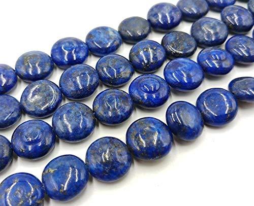 FidgetGear Natural Blue Egyptian Lapis Lazuli Gemstone Loose Beads 15