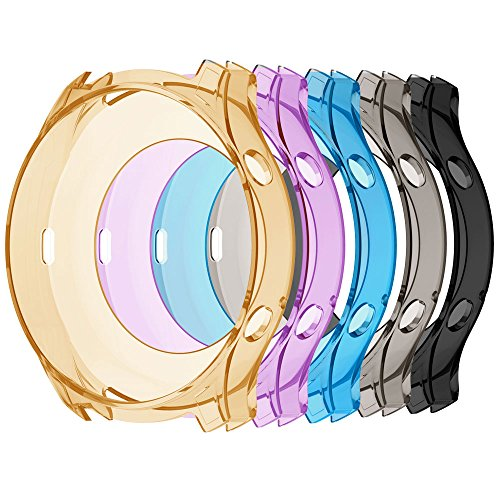 KisFace Protective Cases for Samsung Gear S3 Classic SM-R770,Soft TPU Protective Case Frame Shock Resistant Cover Case,Pack of 5