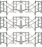 6 Set New Snap-On Lock 5' X 5' X 7' Masonry Scaffolding Frame Sets CBMSCAFFOLD