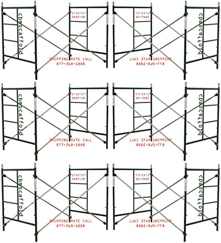 6 Set New Snap-On Lock 5' X 5' X 7' Masonry Scaffolding Frame Sets CBMSCAFFOLD by CBMscaffold
