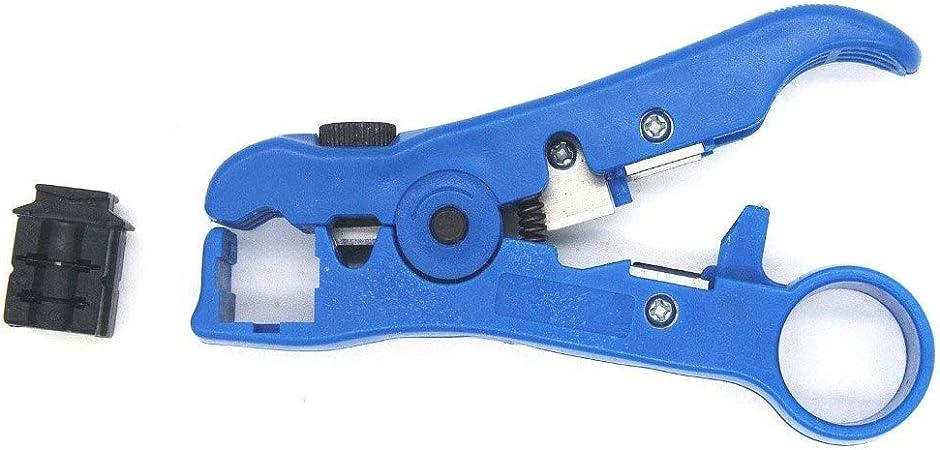 NIUYHBFJ Cable de Alambre Tipo Cortador Universal para Herramienta de pelado coaxial coaxial de Alambre UTP/STP RG59 / 6/7/11 Plana o Redonda,B: Amazon.es: Hogar