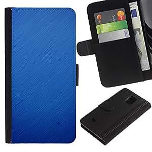 KingStore / Leather Etui en cuir / Samsung Galaxy S5 Mini, SM-G800 / Invierno Lluvia Nieve Otoño Fall Clean