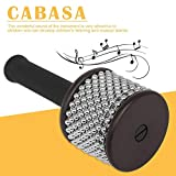 Rosymity Turbo Cabasa Percussion - Wooden Handle Steel Cylinder for Student Children Kid for Orff Noble