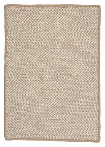 Outdoor Houndstooth Tweed Rug, 12 by 15', Cuban Sand (Cuban Sand)