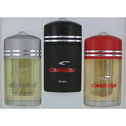 Carrera Collection By Carrera For Men Gift Set (Eau De Toilette Spray 3.4 Ounce of Carrera Classic + Carrera Red + Carrera Black)