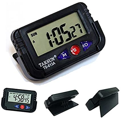 AutoSun-Car Dashboard Office Desk Alarm Clock and Stopwatch with Flexible  Stand  Amazon.in  Car   Motorbike 139659489