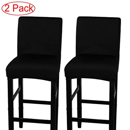 LJNGG 2 Pack Chair Cover Slipcover Counter Stool Covers Dining Room Kitchen  Bar Stool Cafe Furniture