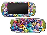 Monsters Inc University Mike Sulley Video Game Vinyl Decal Skin Sticker Cover for Sony PSP Playstation Portable Original Fat 1000 Series System