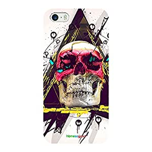 HomeSoGood Using Skull As Home Multicolor Case For iPhone 5 / 5S (Back Cover)