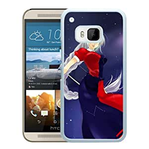 Popular And Unique Designed Cover Case For HTC ONE M9 With Girl Blond Arrow Star Dress white Phone Case