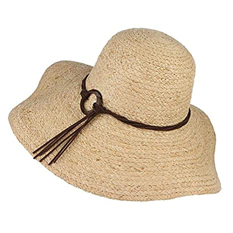 0813e610bdc Image Unavailable. Image not available for. Color  ALWLj Handmade Weaved Summer  Hats for Women Floppy Large Brim Raffia Straw Hat ...