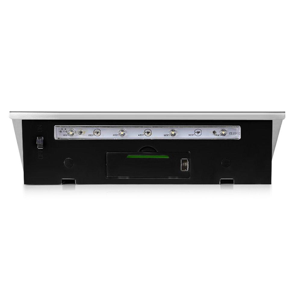 /Transparente Sensor abedoe LED iluminado N/úmeros de casa N/úmero de Casa de L/ámpara L/ámpara Solar de acero inoxidable/
