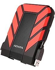 ADATA AHD710P-2TU31-CRD Dashdrive slitstark HD710 Pro extern hårddisk, USB 3.1 (2 TB, röd)