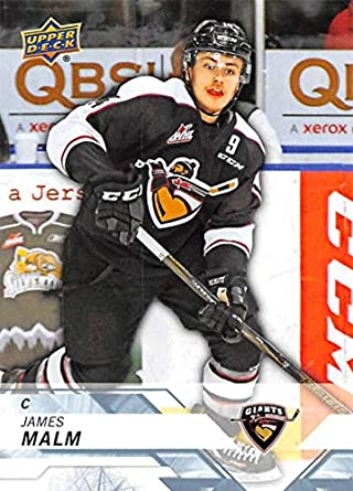 Amazon Com 2018 19 Upper Deck Chl Hockey 68 James Malm Vancouver
