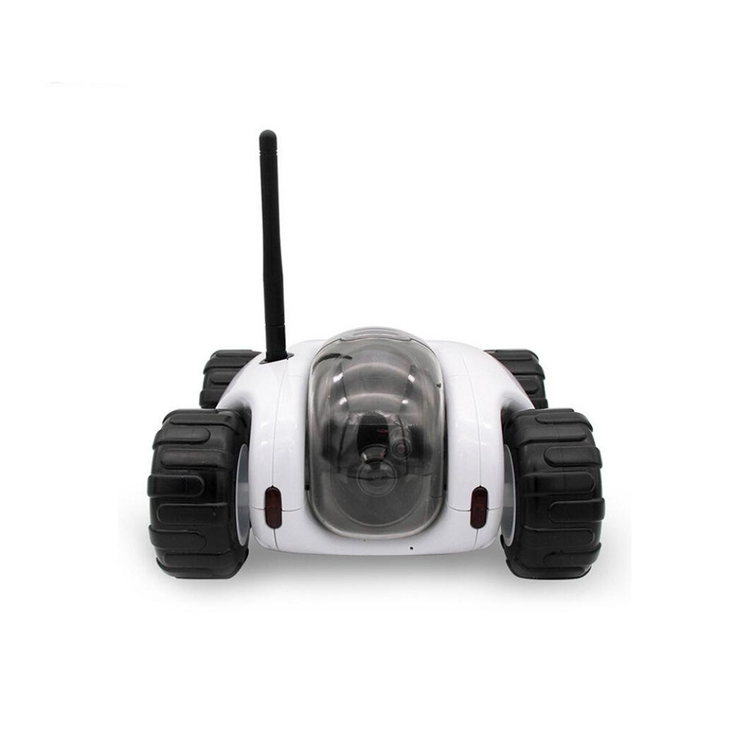 Vibola Remote Control Car Wireless remote control car camera that movement parent-child intelligent (white -O)