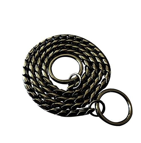 DYBEN Pet Training Snake P Chain Dog Choke Collar,Black,26
