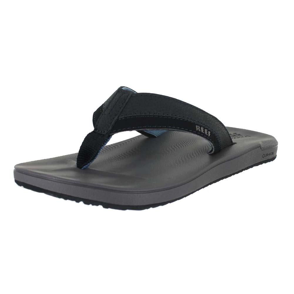 Reef Men's Contoured Cushion Sandal, Grey/Blue, 11 M US
