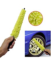 MIFASA Auto autowielborstel kunststof reinigingsborstel velgen bandenwasborstel autowasspons handvat borstel