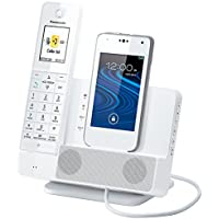 Panasonic Link2Cell KX-PRD260W Digital Phone with Smartphone Integration and Answering Machine (Certified Refurbished)