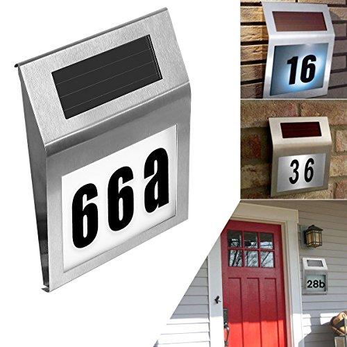 solar lighted address sign house number soonhua decorative plaque door number apartment number. Black Bedroom Furniture Sets. Home Design Ideas