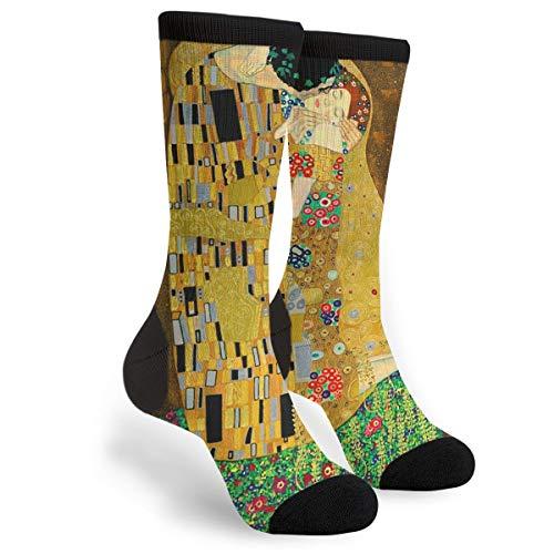 Gustav Klimt The Kiss Crew Socks - Fun Novelty Socks - Unisex, One Size Fits Most