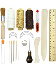Bookbinding Tools Kits,23PCS Premium Sewing Tools for Leather,Handmade Books and Paper DIY Bookblind Set, Including Sewing Needles/Waxed Thread/Plastic Ruler and So On Like Main Picture