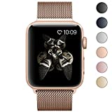 Lelong Apple Watch Band,Milanese Loop Fully Magnetic Clasp Stainless Steel Mesh iWatch Band for Apple Watch Series 3 Series 2 Series 1 Sport & Edition- 38mm Champagne Gold