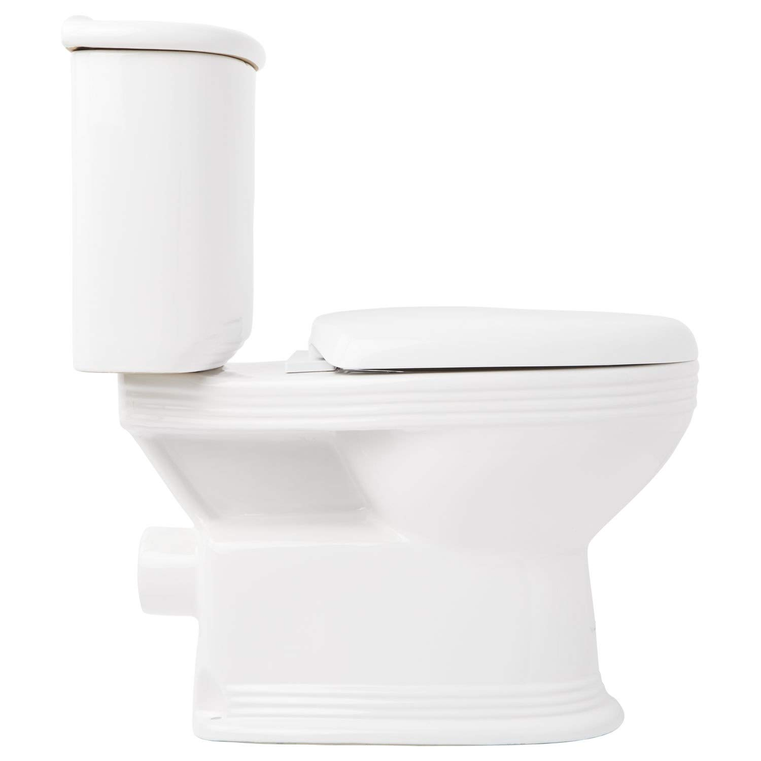 Signature Hardware 398506 Ebler 1.6/0.8 GPF Two Piece Elongated Toilet with Rear Outlet - Seat Included by Signature Hardware