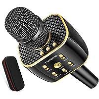 Karaoke Microphone Wireless, Dual Sing Duet Version 3300mAh Handhold Karaoke Mic Portable Wireless Microphone ,Dual…
