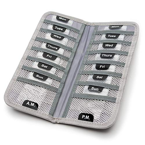 TeloTravel Travel Pill Case | 7-Day AM/PM Medication Organizer