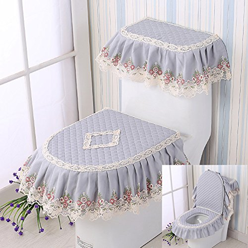 MM GH-Four Seasons General flannel toilet mat, three sets of thickening toilet seat cushion, toilet seat cover, U cushion,ZN