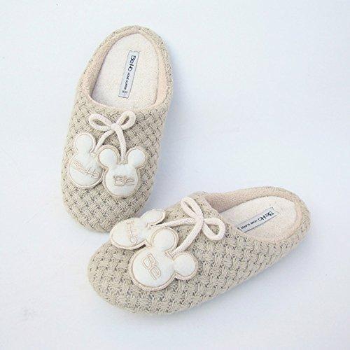 Comfort Anti Sole Slippers skid Outdoor Women's Rubber Beige Memory Foam Buyitnow W indoor w4q8P851