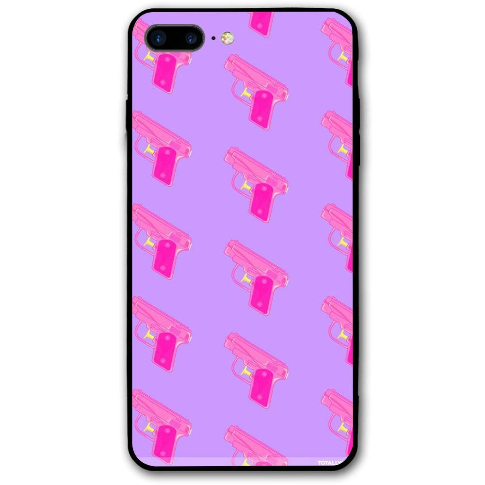 innovative design a14c9 dda23 Amazon.com: LO-HQZ iPhone 8 Plus Case, 7 Plus Case Pink Large Gun ...