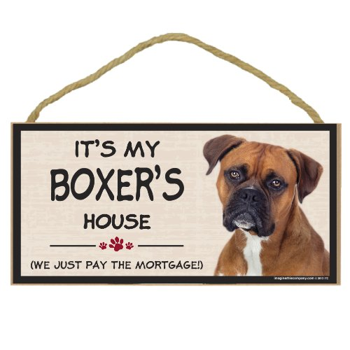 Imagine This Wood Breed Decorative Mortgage Sign Boxer