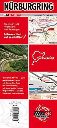 Nürburgring Freizeitkarte Landkarte – Folded Map, 2. Mai 2017 garant Verlag GmbH 3735915019 Rheinland-Pfalz Rheinland-Pfalz / Landkarte