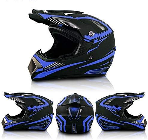 Unisex Motorradhelm Cross Helme Schutzhelm Atv Helm F/ür M/änner Damen Sicherheit Schutz YYXT Motocross Helm Adult Off Road Helm Mit Handschuhe Maske Brille
