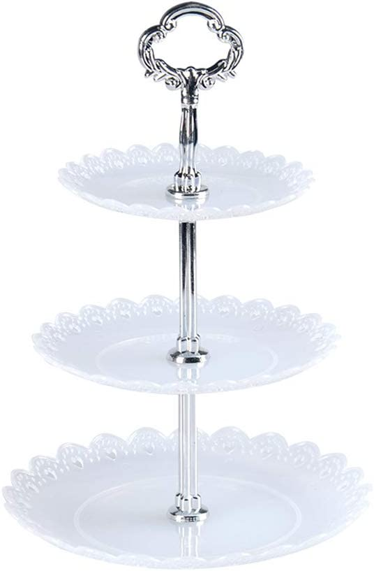 Hooshion 3 Tier Cupcake Holder Resuable Dessert Serving Tray Cupcakes Stands Cupcakes Holders Rack Cupcake Display Tea Party Serving Stand (Transparent)