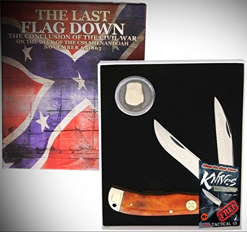 (Rough Rider Elite Knife 0111533 Civil War Series Satin Finish Folding W/2 Blades Folder + free eBook by ProTactical'US)